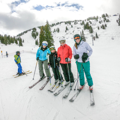 3 Generations of the Bring The Kids Family skiing together